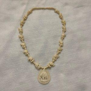 Ivory elephant 🐘 necklace one size twist closure